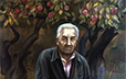 Fedorchhenko, Volodimir. Old Appletrees (Portrait of the Participant of the Liberation of Kyiv, A. Golovach). 1983. Oil on Canvas. 120 x 120 cm. .