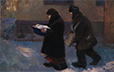 Chernukha, Valentin. Elders. 1967. Oil on canvas. 89 x 140.5 cm.  -- On loan to the Ukrainian Institute of America, NYC.