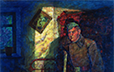 Yakimets, Anatoli. And the Soldier Has Returned. 1984-85. Oil on canvas. 100 x 130 cm. .