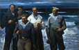 Korobov, Volodimir. Sailors on Attack, 1943. 1985. Oil on canvas. 180 x 180 cm. .